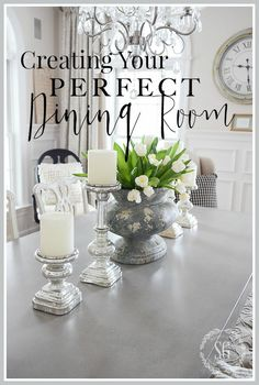FURNISHING YOUR PERFECT DINING ROOM