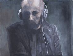 Krauchthaler, Man with Headphones on ArtStack Oil On Canvas, Canvas Art, Figurative Art, Saatchi Art, Original Paintings, Headphones, The Originals, Artwork, Artist