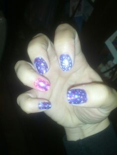 Purple and pink with a people Epilepsy ribbon and purple polka dots!