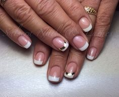 chrome smile Nails / french white