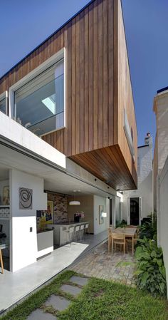 Contemporary renovation in Sydney: Long Courtyard House  by SCALE Architecture