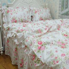 FADFAY Home Textile,Romantic Pink Rose Jacquard Bedding Set,Elegant American Rustic Vintage Floral Duvet Cover,Delicate Fairy Girls Princess Bed Cover Set, http://www.amazon.ca/dp/B00RGISI3K/ref=cm_sw_r_pi_awdl_x_Wa9fybJR62Z5S