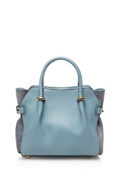Marche Small Leather and Suede Satchel from Moda Operandi | PS Dept.