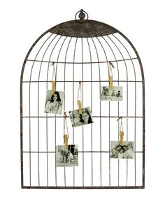 Take a look at this Birdcage Shape Wall Decor by Urban Trends Collection on #zulily today! $35 !!