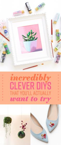 Cute options for your outfit and your home! Cute Crafts, Crafts To Do, Arts And Crafts, Diy Crafts, Do It Yourself Projects, Diy Projects To Try, Craft Projects, Project Ideas, Clever Diy