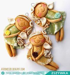 anioły z masy solnej :) Spróbuj tego!  asiekmisiek.blogspot.com