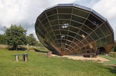 Heliodome is a solar house built in the shape of a sundial. It is located in Eastern France. Considered a bioclimatic solar house its odd angle ties in with the suns movementsproviding optimal inside temperatures during every season. #wow #hitech #amazing #makessense #makethemostofit #gosolar #solarenergy #solarsystem #solarpanels #solar #cleanenergy #gogreen #greenthumb by megasunpower