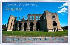 $3.29 - Acrylic Fridge Magnet: Uruguay. Plaza De Toros Real De San Carlos. Colonia Del Sacramento