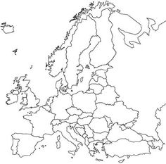 Map of Europe for studies