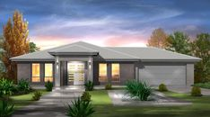 The Grand is a stunning home design by one of South Australia's leading Home Builders Fairmont Homes. It is part of the Conventional collection. Front View Of House, Fairmont Homes, Fairmont Designs, Garden Design, House Design, Grand Homes, Facade House, Home Collections, Home Builders