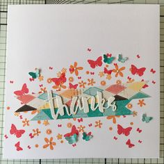 """Thanks card featuring the Stampin Up """"Perpetual Calendar"""" set"""