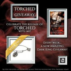 Torched by Donna Grant Week 2 #Giveaway is now live! Enter to #win a silver dragon Alex & Ani bracelet!