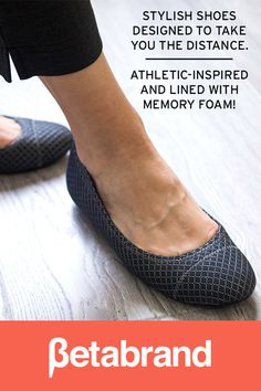 Stylish shoes designed to take you the distance. Athletic-inspired & lined with memory foam!
