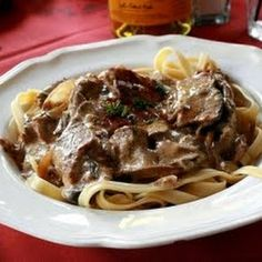 "Beef Stroganoff  (From the ""old"" Russian Tea Room)"