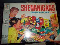 Vintage Shenanigans game show  Board Game Milton Bradley 1964  #MiltonBradley