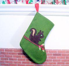 xmas stocking idea with felt