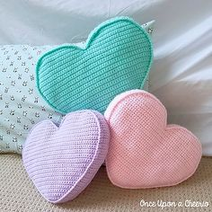 Candy Heart Pillow by Once Upon a Cheerio