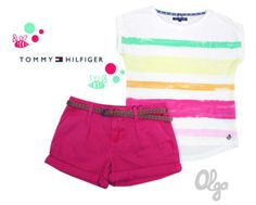 Conjunto niña verano 2014, de Tommy Hilfiger. Tommy Hilfiger, Short Niña, Kids Fashion, Casual Shorts, Gym Shorts Womens, Kid Styles, Kid Outfits, Kids Fashion Boy, Hot Pants