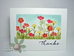 One-Layer Wildflowers by Chris Slogar - Cards and Paper Crafts at Splitcoaststampers