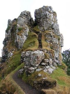 Fairy Glen - Isle of Skye, Scotland | Scots believe in fairies, this must be their fortress...