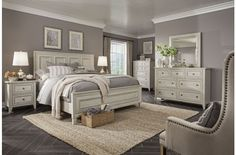 White Casual Traditional 6 Piece Queen Bedroom Set - Raelynn - April 13 2019 at Home Decor Bedroom, Modern Bedroom, Bedroom Ideas, Diy Bedroom, Bedroom Designs, Contemporary Bedroom, White Bedroom Furniture, Bedroom Suites, Modern Contemporary
