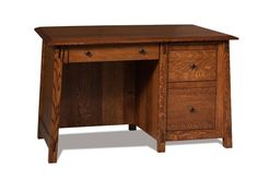 """Amish 50"""" Colbran Solid Wood Desk A delightful little desk with 3 drawers to serve you. This beauty is perfect for a home office or setting up a work space in your bedroom or den."""