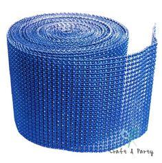 "Royal Blue Diamond Mesh Wrap Roll Rhinestone Crystal Ribbon 4.5"" x 10 yards Craft & Party http://www.amazon.com/dp/B00IENW7DI/ref=cm_sw_r_pi_dp_sGcSub1XSR8Z4"