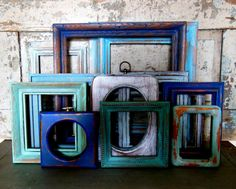 Wooden Picture Frame Gallery Wall Seaside by turquoiserollerset, $129.00