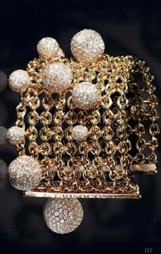 """Boule"" bracelet in white gold set with 1993 white diamonds of 37.00 carats by de Grisogono  |  bracelets"