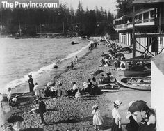 English Bay beach in Vancouver looking west in 1898.