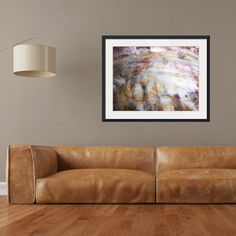 rectangle abstract landscape prints in hallway   white brown red and beige modern canvas prints   modern leather sofa   modern rustic artwork   coastal artwork   beach house artwork   interior design   rustic style interior   contemporary wall art   wall decor   modern wall art   abstract framed artwork   large print   rectangle framed print   Maggie Minor Designs