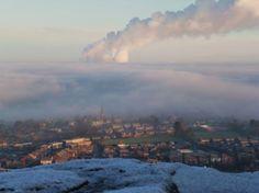 Misty morning Frodsham Hill by stephen edwardson. #Readerphotooftheweek
