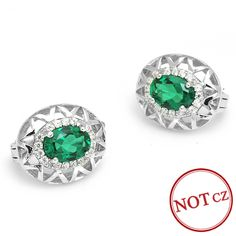 Fashion 2.5ct Nano Russian Emerald Clip Earring  Only $29.99 => Save up to 60% and Free Shipping => Order Now!  #Bracelets #Mystic Topaz #Earrings #Clip Earrings #Emerald #Necklaces #Rings #Stud Earrings  http://www.gemstonese.com/product/fashion-2-5ct-nano-russian-emerald-clip-earring/