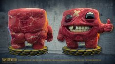 Super Meat Boy by Ian Strandberg. 3D printing