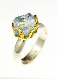 Natural Nested Aquamarine Ring - Tula Gems