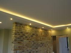 sufit podwieszany led - Szukaj w Google Decor, Living Room, Room, House, House Plans, Led, Home Decor, Fireplace