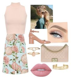 """Untitled #44"" by athziri-galindo on Polyvore featuring Warehouse, WearAll, Gianvito Rossi, Chanel, Lime Crime, Accessorize and Stella & Dot"