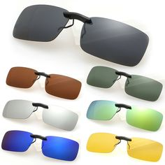f08285a522 OUTEYE 2017 Summer New Men Women Polarized Clip On Sunglasses Sun Glasses  Driving Night Vision Lens