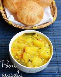 Poori Masala - Potato Masala for Poori.