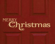 A fun way to greet guests for the holidays! This Christmas door decal can be customised. Custom Made Gift, Celebrating Christmas, Handmade Leather Wallet, Monogram Decal, Christmas Door, Laptop Decal, Vinyl Wall Decals, Xmas Gifts, Special Occasion