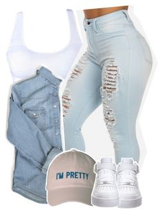 """Good Luck"" by kiaratee ❤ liked on Polyvore featuring NIKE"