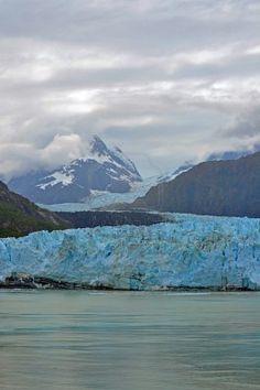 Alaska - glaciers, mountains, sea and clouds