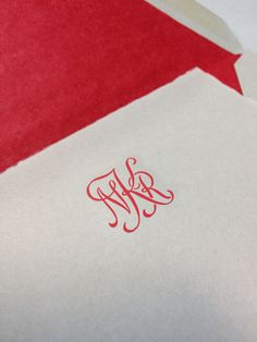 Arturo paper engraved in red - thanks Patricia DuCharme Fine Stationery!