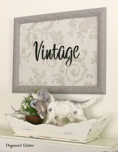 A Thrift Shop Frame Makeover With Old Sign Stencils