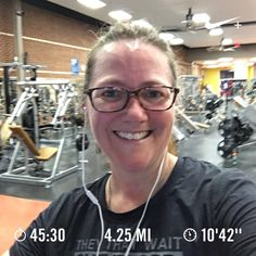 Ran 4.25 miles with Nike+ Run Club  Treadmill run because the wind is WAY too much – 20-30 mph steady, gusts between 50 & 60!! Ran longer than I thought I could at one point. Proud of myself for pushing through the blah just to get to 4 miles! #fitmom #500milesin2017 #RunLikeAMom