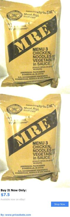 Food And Drink: Mre Menu 3 Chicken, Noodles And Veg, Sauce (Meal, Ready-To-Eat, Individual) Sealed BUY IT NOW ONLY: $7.5 #priceabateFoodAndDrink OR #priceabate