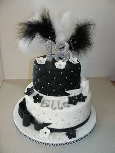 Black & White Bling Cake. xMCx