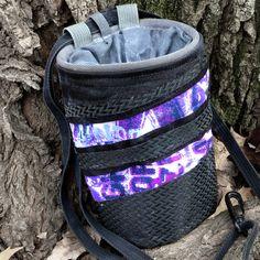 Mix fabric chalk bag with carbon fiber like nylon and grunge print  #metachalkbag #carbonfiber #coolchalkbag #chalkbag #climbing #climbinggift