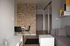 Ikea - Bernhard chairs, Melltorp table. Wood wall decoration.