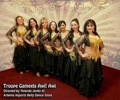 Aren't they gorgeous! This is my troupe, we danced at Rakkasah. Had a blast.  They are wearing the Endless Wave Chiffon Harem Pants. http://www.artemisimports.com/belly-dance-fusion-endless-wave-harem-pants/
